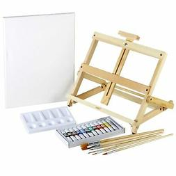 Artlicious 21 Piece Complete Easel Set - Easel, Stretched Ca