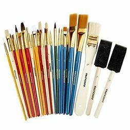Artlicious - 25 All Purpose Paint Brush Value Pack - Great w