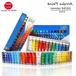 Acrylic Paint Color Set 15ML Fabric Clothing Nail Draw Water