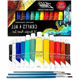 Acrylic Paint Set 12 Colours by Crafts 4 ALL Perfect For Can