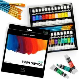Ohuhu Artist's Acrylic Paint Set with 6 Painting Brushes Acr
