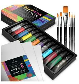Acrylic Paint Set for Artists, Kids and Adults - 12 Vibrant