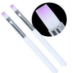 2PCS Acrylic UV Gel Nail Art Design Pen Polish Painting Brus