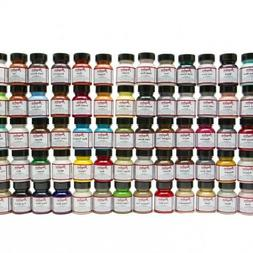Angelus Brand Acrylic Leather Vinyl Paint Color Chart, Colle