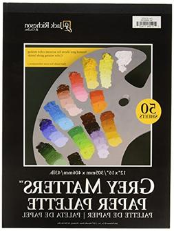 Jack Richeson Grey Matters Paper Palette, 12 by 16-Inch, 50