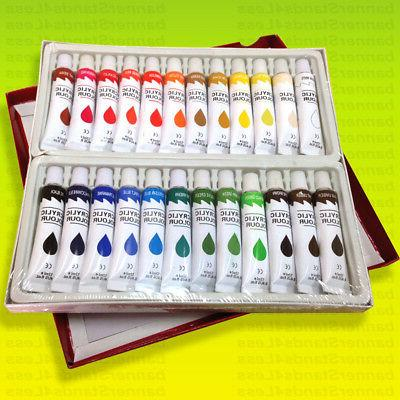 24 pc professional artist color painting 12ml
