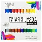 Acrylic Paint Set - B-Art-C 24 Vibrant Color Paint Kit inclu