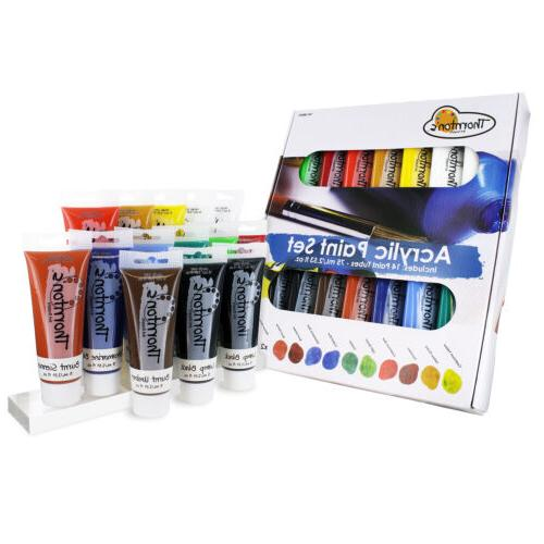 Thornton's Art Supply Acrylic Paint Tubes, Assorted Colors,