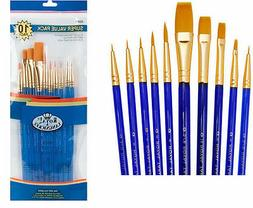 Royal Langnickel Gold Taklon Brush Set Super Value Pack