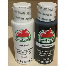 Apple Barrel Matte Acrylic Craft Paint Set 20504E Black 2050