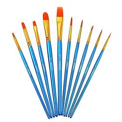 Paint Brush Set Acrylic Xpassion 10pcs Professional Paint Br