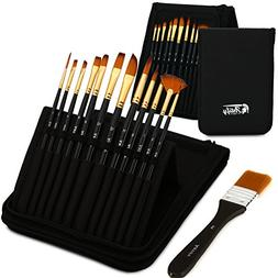 Artify 12 Pcs Paint Brush set Includes Pop-up Carrying Case