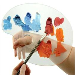 Paint Palette Acrylic Clear Oval Shaped Palette for Art Pain